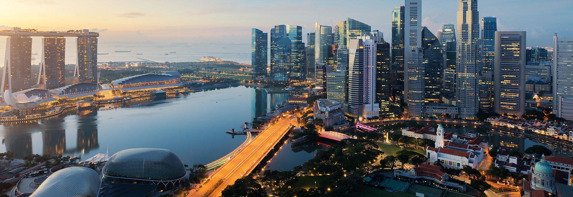 SIngapore skyline clear day