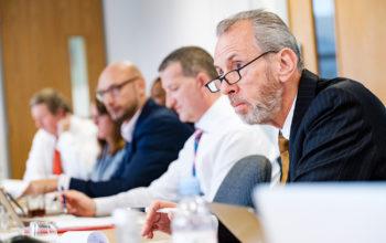 Man listening during meeting